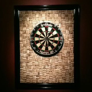Wine Cork Dartboard Backboard I Want Something Like This Around Our Cabinet
