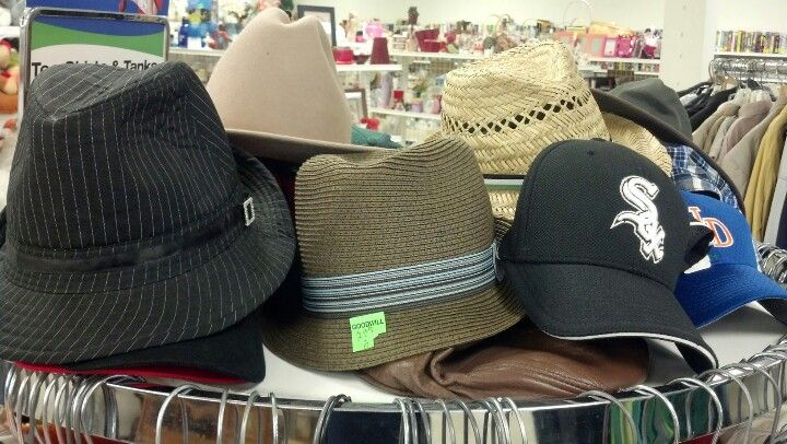 Nice selection of stylish hats available at #Goodwill. These were at the Elizabethville store on July 5. $2-$3. Bargain.