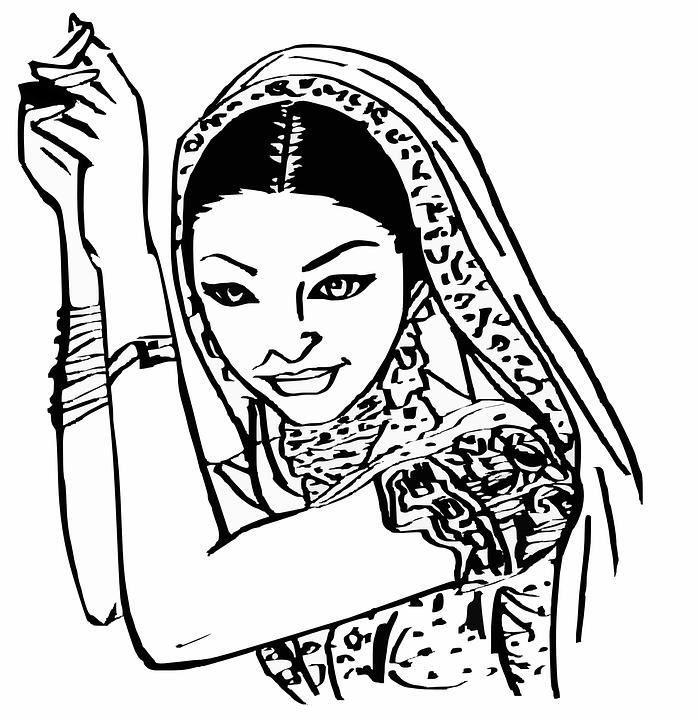 Indiana, Feminino, Mulher, Bela, Bollywood, Menina