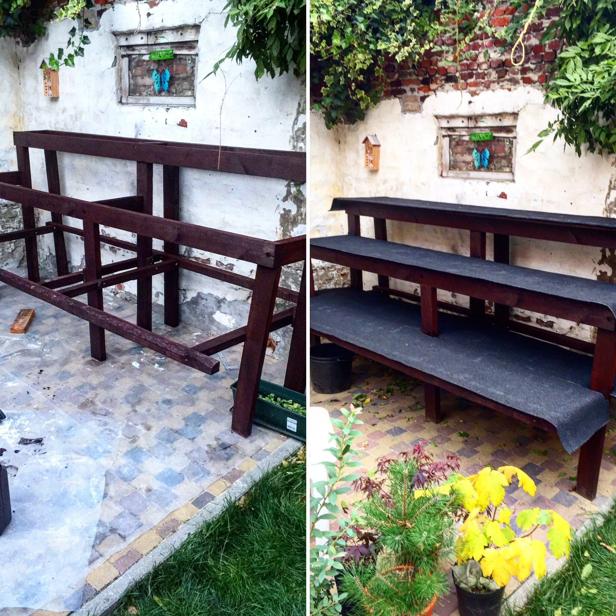 bonsai bank bonsai pinterest tisch. Black Bedroom Furniture Sets. Home Design Ideas