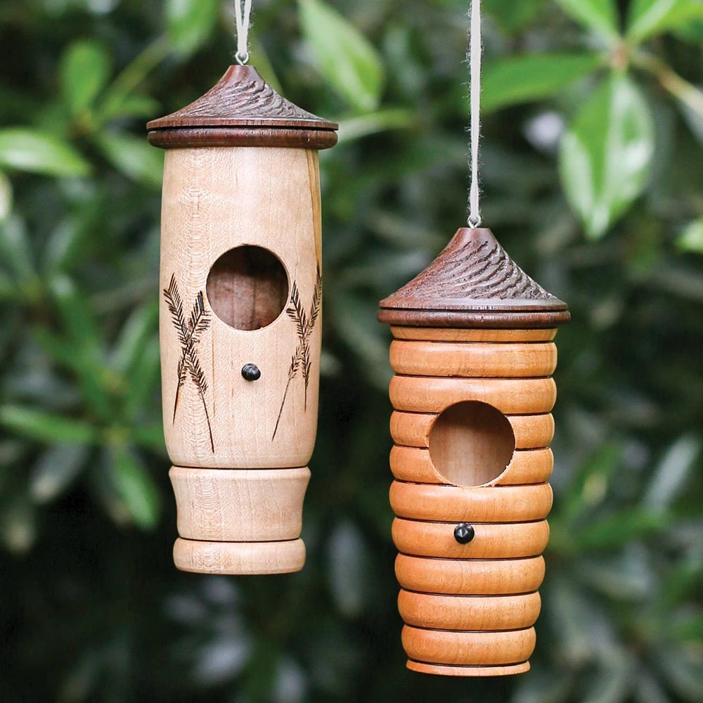 Wooden Hummingbird House In 2021 Hummingbird House Wood Turning Bird House Feeder