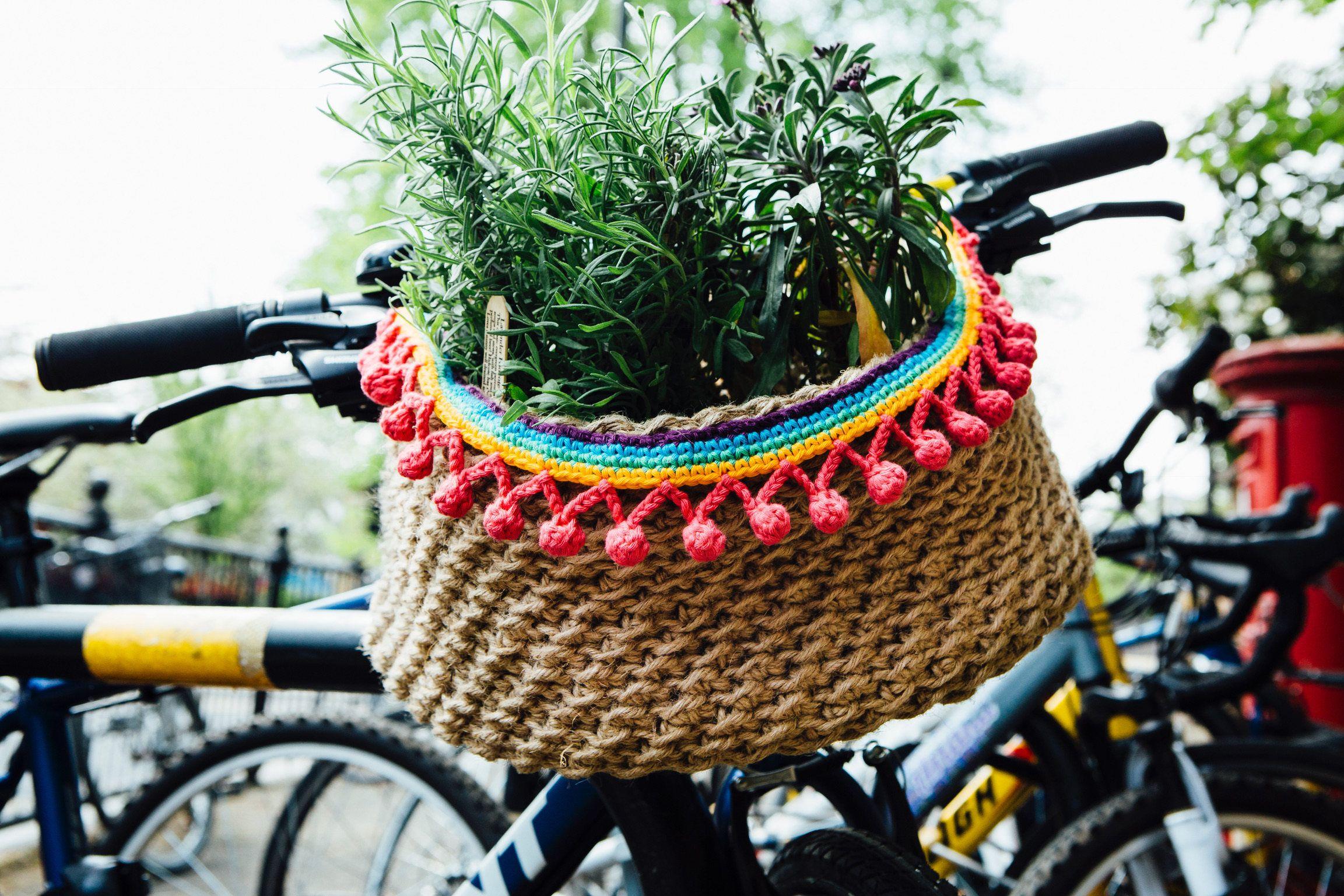 Bicycle Basket: A Crochet PDF Pattern | Bike Babe ...
