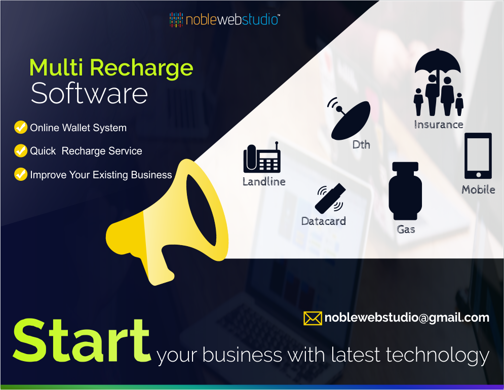 Multi #Recharge #Software Solutions from #NobleWebStudio All