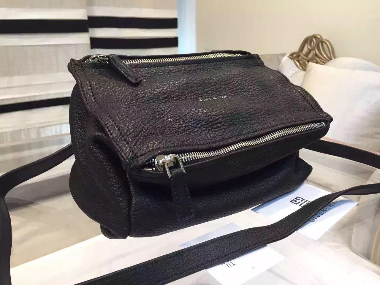 Givenchy New Medium  Pandora  shoulder bag in Original Deerskin Black fc934c50ce959