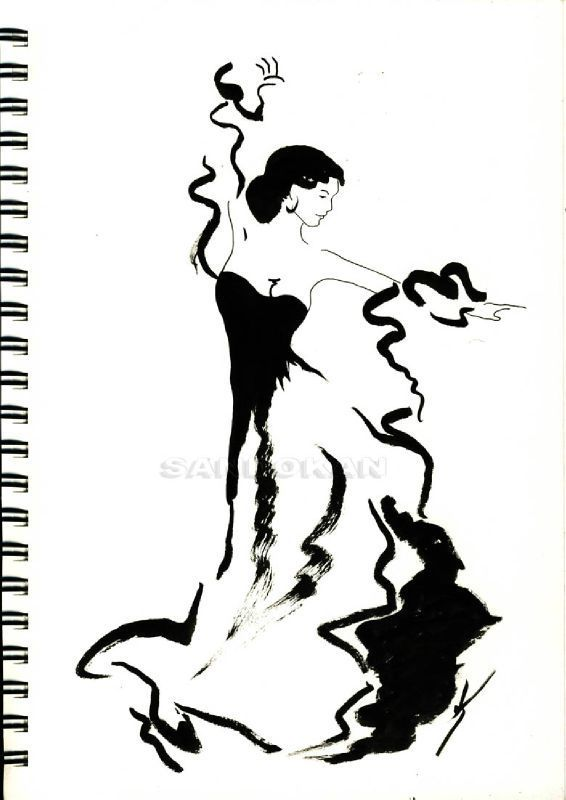 Flamenco barcelonelgr draw anything dance art - Dessin danseuse de flamenco ...
