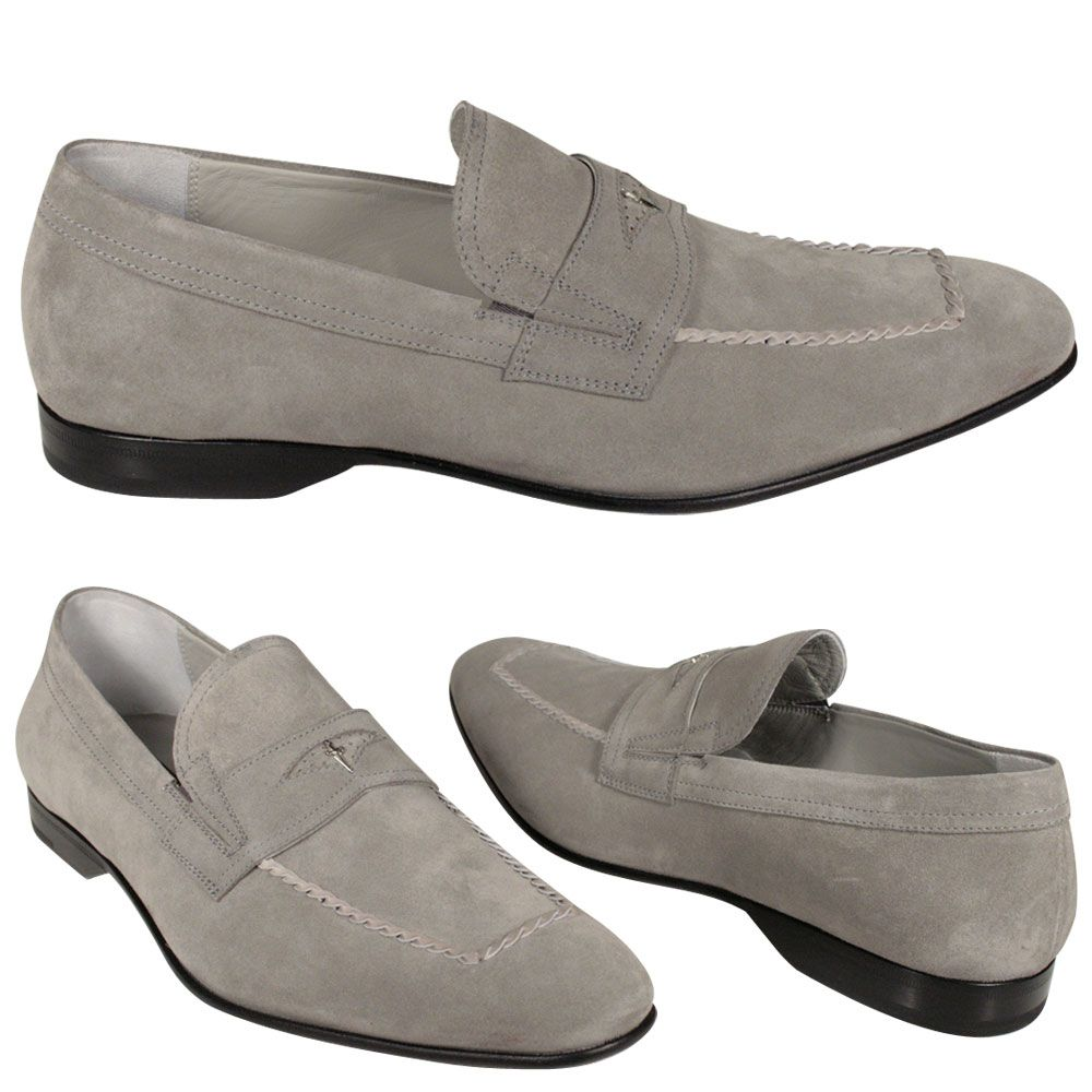 Cesare Paciotti Mens Shoes Gray Suede Loafers Cpm736 Dress Shoes Men Loafers Men Shoes