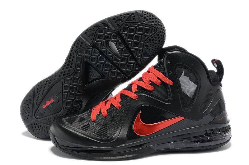 e62ba57ef80 Nike Lebron 9 P.S. Elite Game Four Away PE Black Red Basketball Shoes