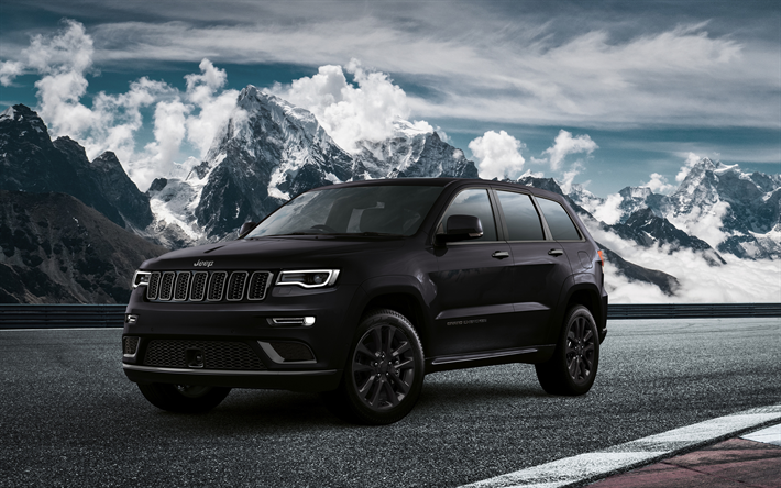 Download Wallpapers Jeep Grand Cherokee S 4k Road 2018 Cars Suvs
