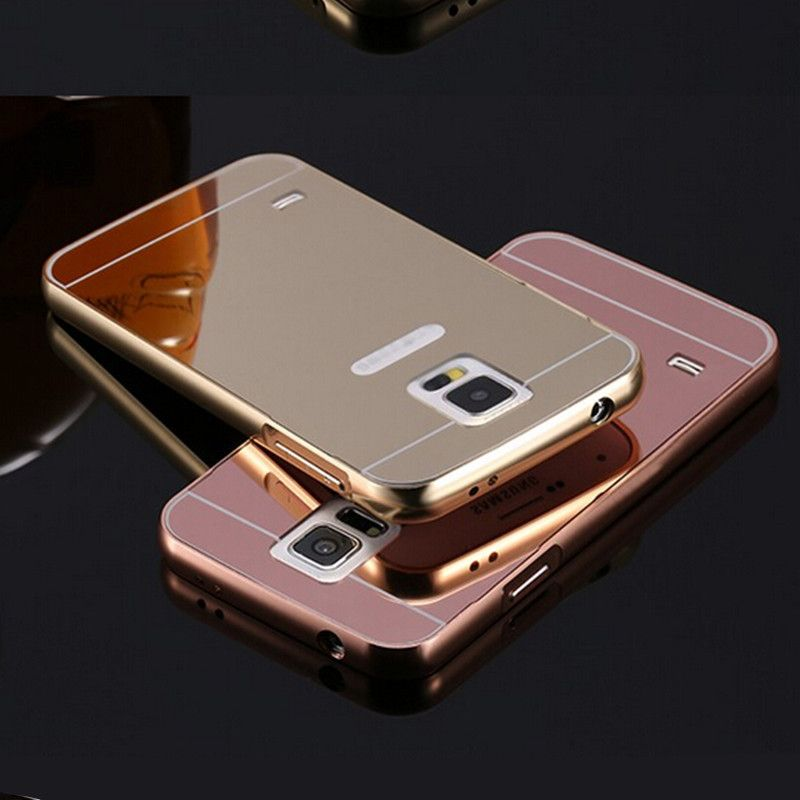 For Samsung Galaxy S5 Minni Case G800 Luxury Rose Gold Aluminum Mirror Back Cover Case For Samsung S5 Mini Shell Samsung Galaxy S5 Samsung S5 Case Mobile Phone