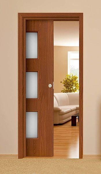 18 Puertas de madera con vidrio