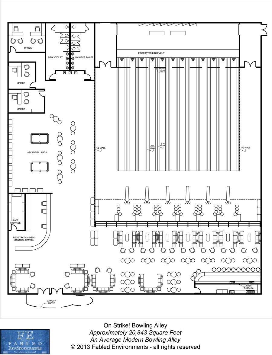 medium resolution of modern floorplans an average modern bowling alley fabled environments modern floorplans drivethrurpg com