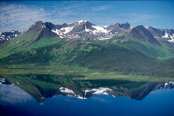 Mountain Reflection, Kitchener Lake, B.C.