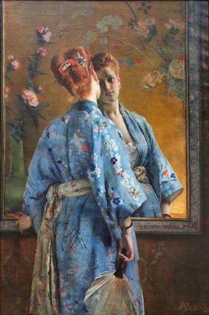 Le Prince Lointain: Alfred Stevens (1823-1906), La Parisienne Japonais...