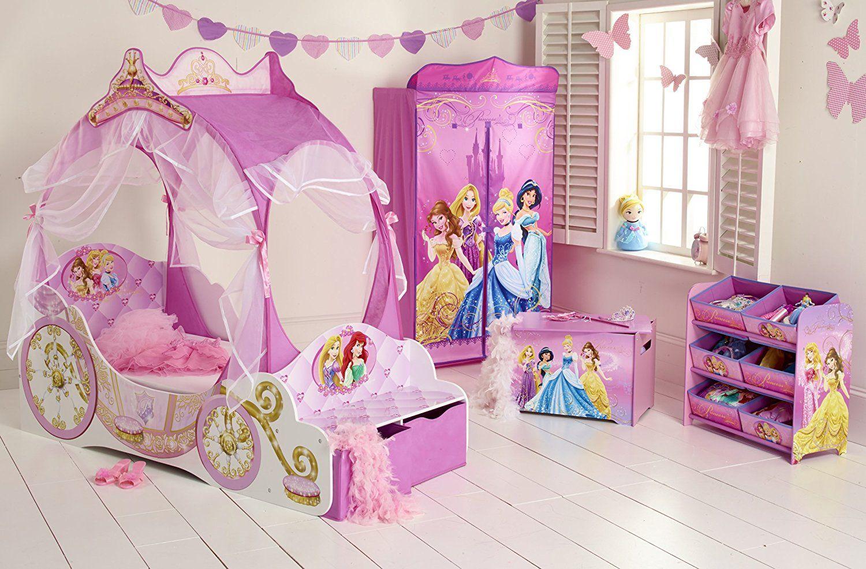 Kleinkinderbett Für Mädchen Im Kutschendesign Von Disney Prinzessin, Mit  Baldachin | Mit Diesem Prinzessinnenbett Werden Wünsche Wirklichkeit Und  Der Umzug ...