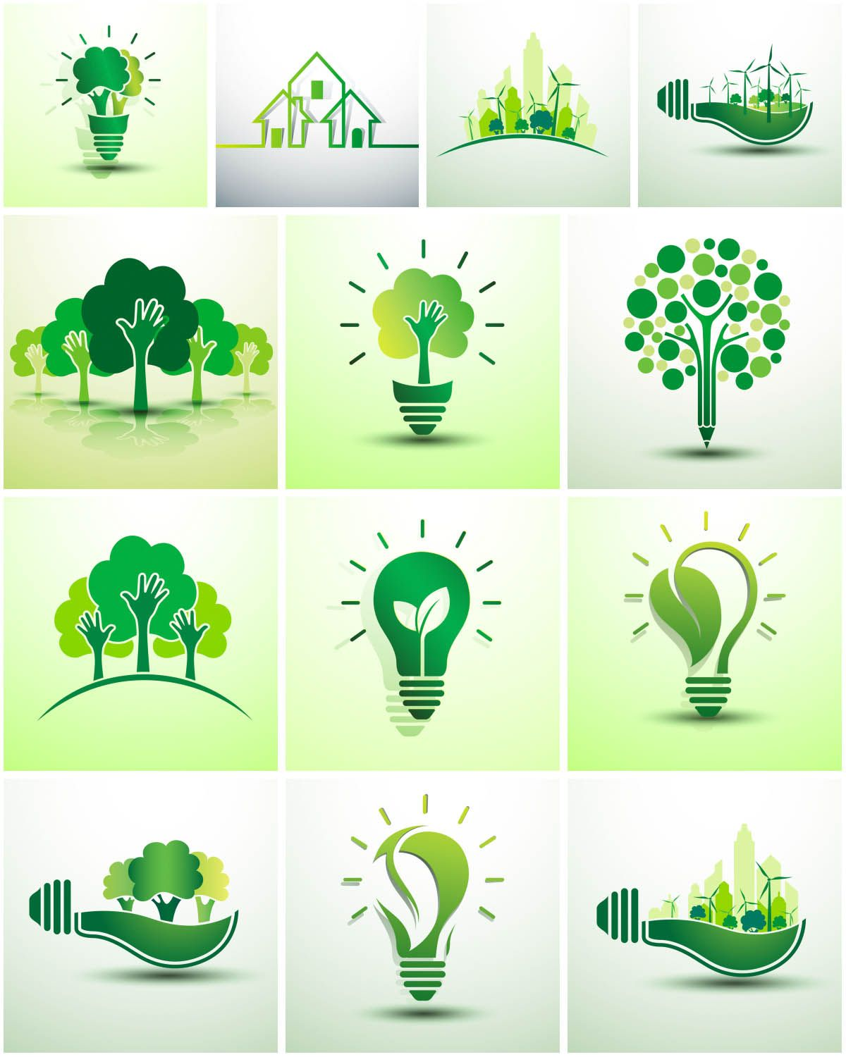 Green ecology logos vector free vector graphic for Diseno sustentable