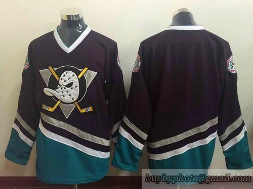 NHL Anaheim Ducks Mighty Ducks  Blank Jerseys Black  2bf15e28f