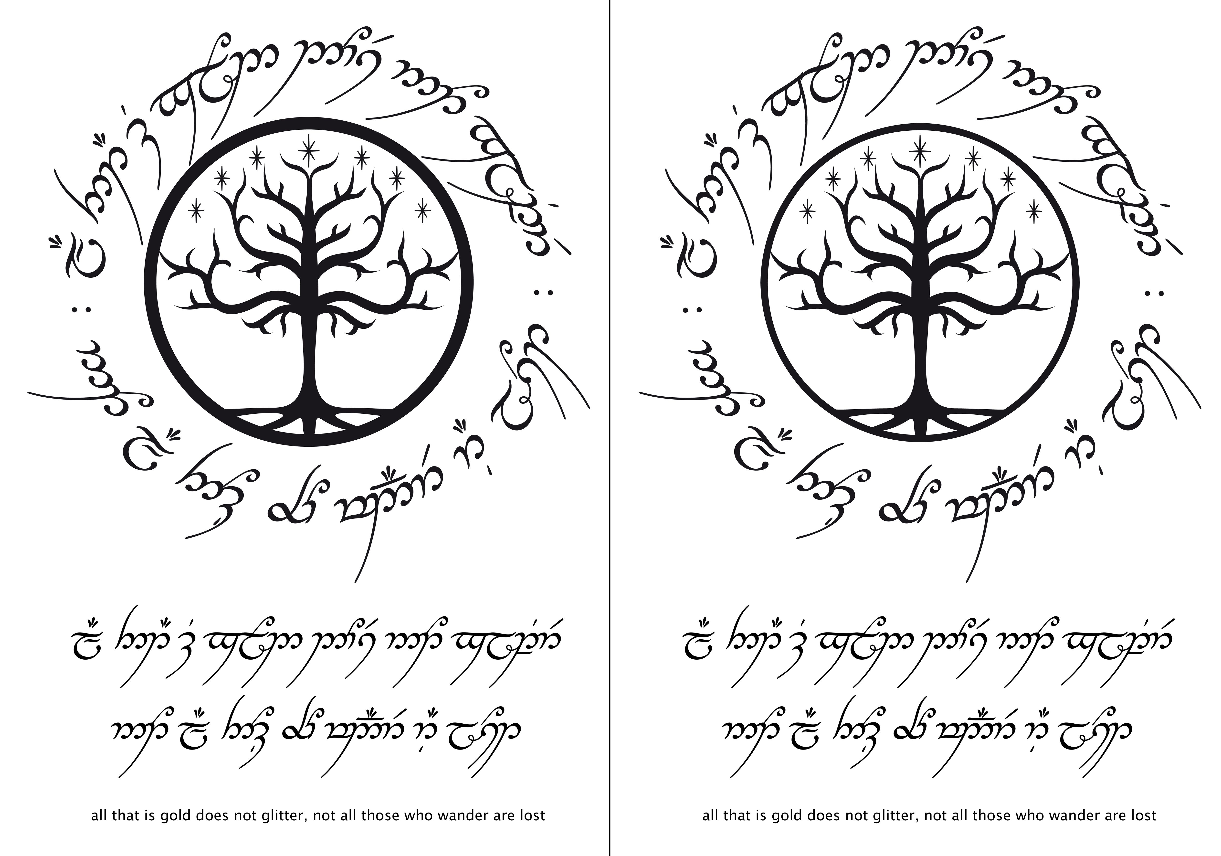 Not All Those Who Wander Are Lost Tattoo Elvish Poisk V Google