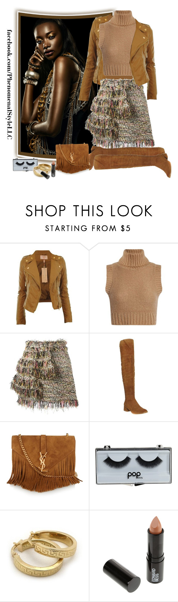 """""""Skins"""" by konata-phenomenalstyle ❤ liked on Polyvore featuring CO, Boohoo, MSGM, Office, Yves Saint Laurent, POPbeauty and Edward Bess"""