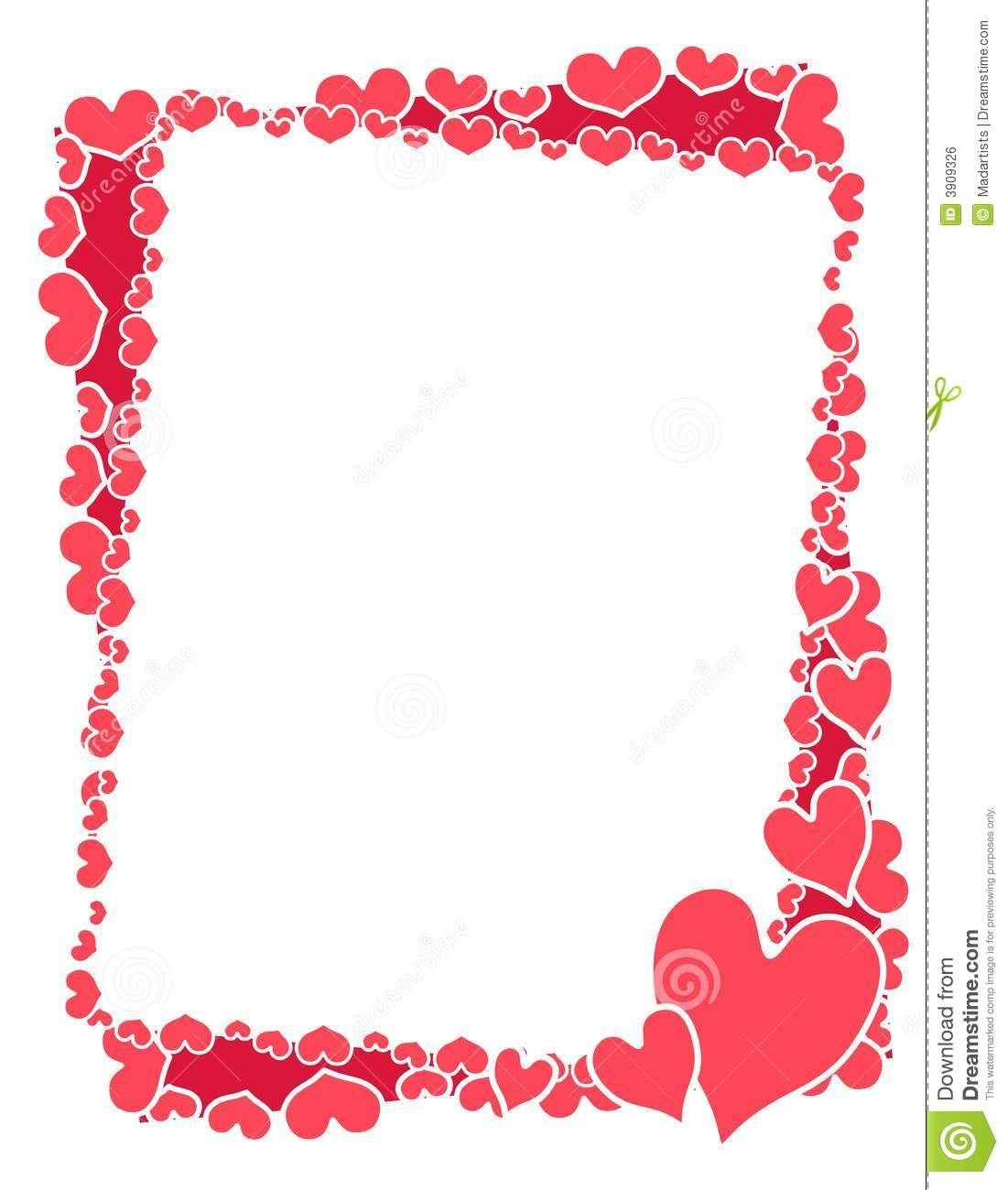 marco-o-frontera-rosado-de-los-corazones-de-la-tarjeta-del-día-de ...