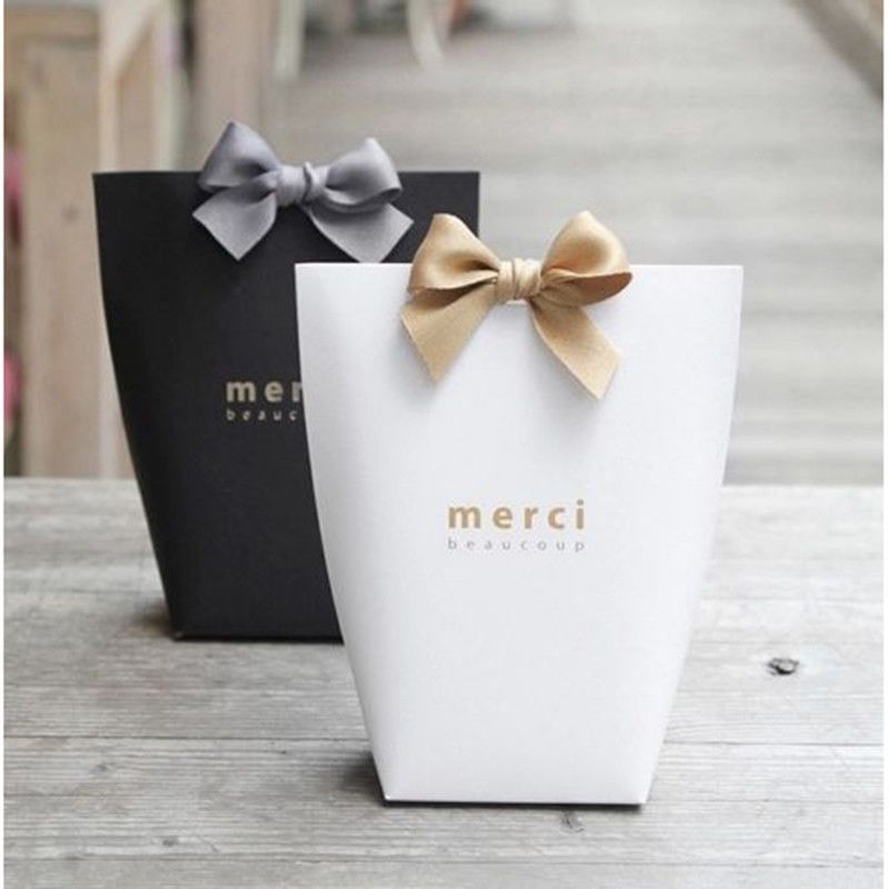 1 5x Merci Beaucoup Elegant Party Paper Wedding Favour Gift Sweets
