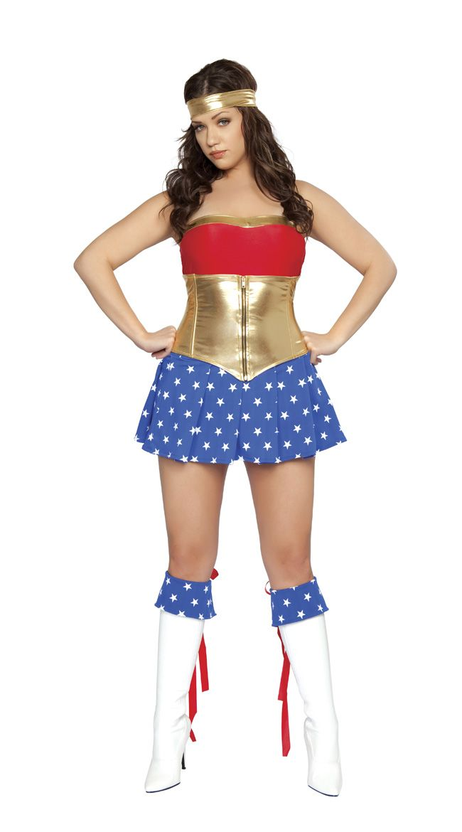 Plus Size Wonder Woman Costume Trick Or Treat Time Pinterest