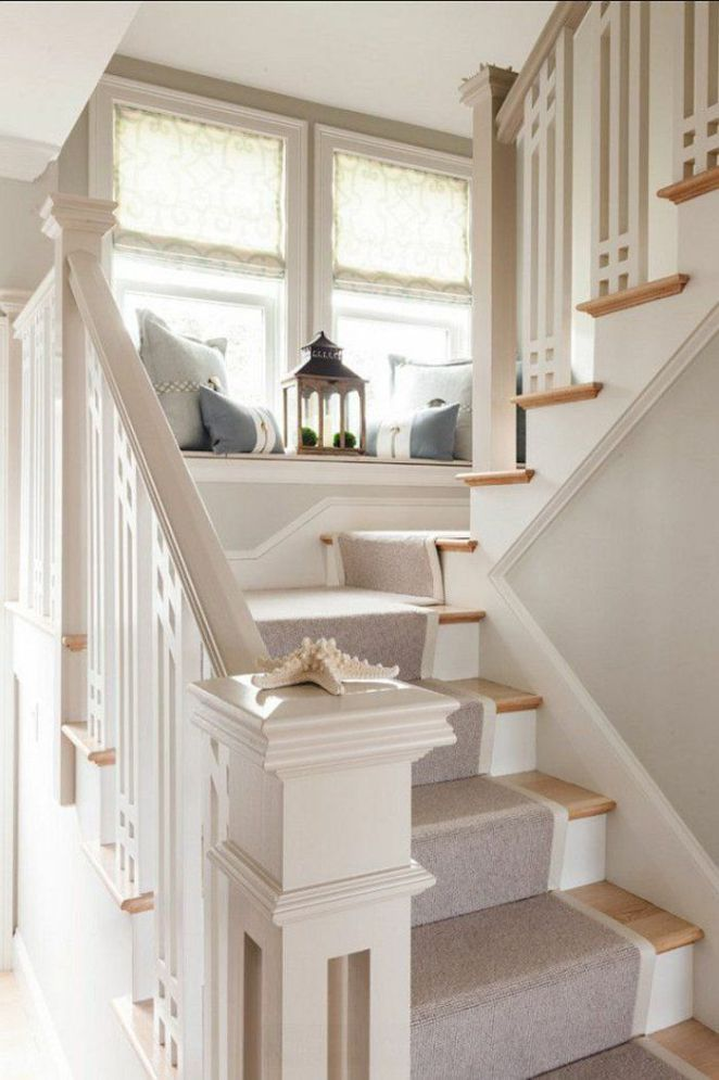 Déco Salon tapis pour escalier gris escalier en bois escalier