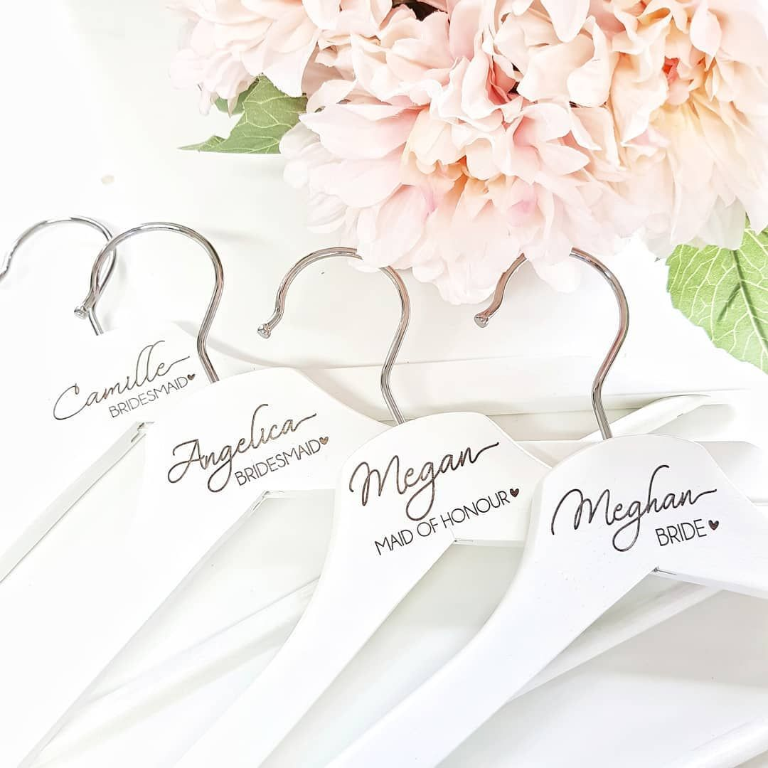 Engraving lots of bride bridesmaids hangers lately also