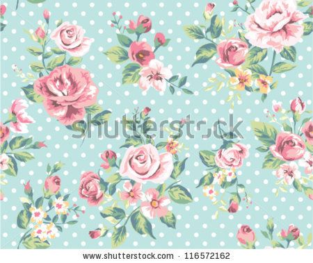 Wallpaper Seamless Vintage Pink Flower Pattern On Brown Background By SalomeNJ Via ShutterStock