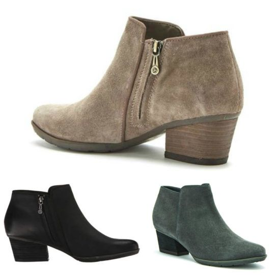 Sleek, stylish suede and - yes - waterproof! Blondo Villa ankle boot. |