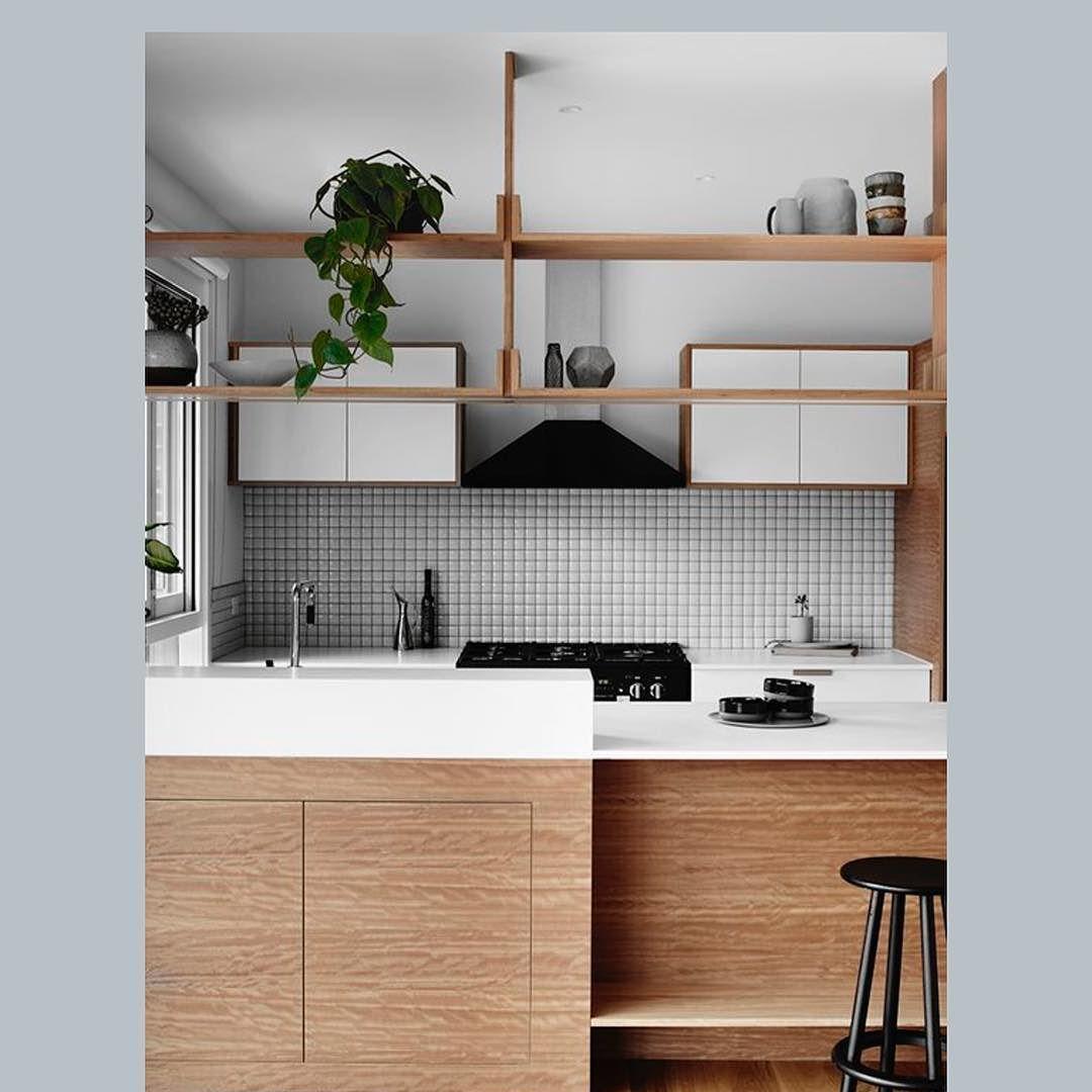 amei o revestimento e o tom da madeira utilizados - Eo Kitchen