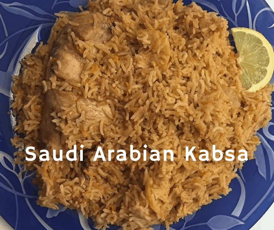 Saudi Arabian Kabsa Chicken And Rice Recipe Kabsa Recipe Arabic Chicken Recipes Chicken Recipes