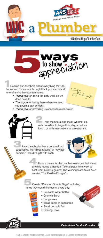 National Hug A Plumber Day April 25th 5 Ways To Show Your Plumber