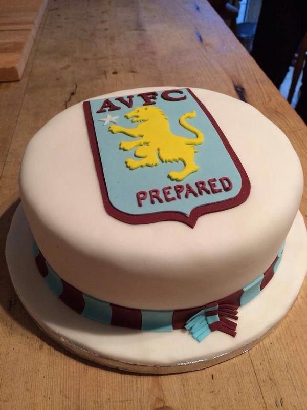 Aston Villa Cake Friends Birthday Cake Football Cake Cake