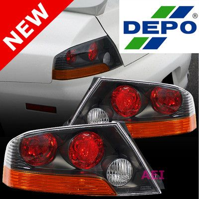 Details about DEPO JDM Pair Red/Amber Tail Light For 0306
