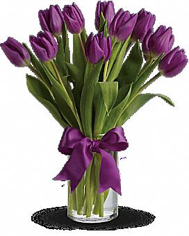 Passionate Purple Tulips Bouquet Com Imagens Arranjos Florais Modernos Decoracao Com Flores Arranjos De Flores