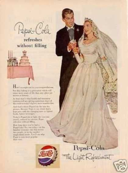Pepsi-cola Ad Bride/groom (1953)