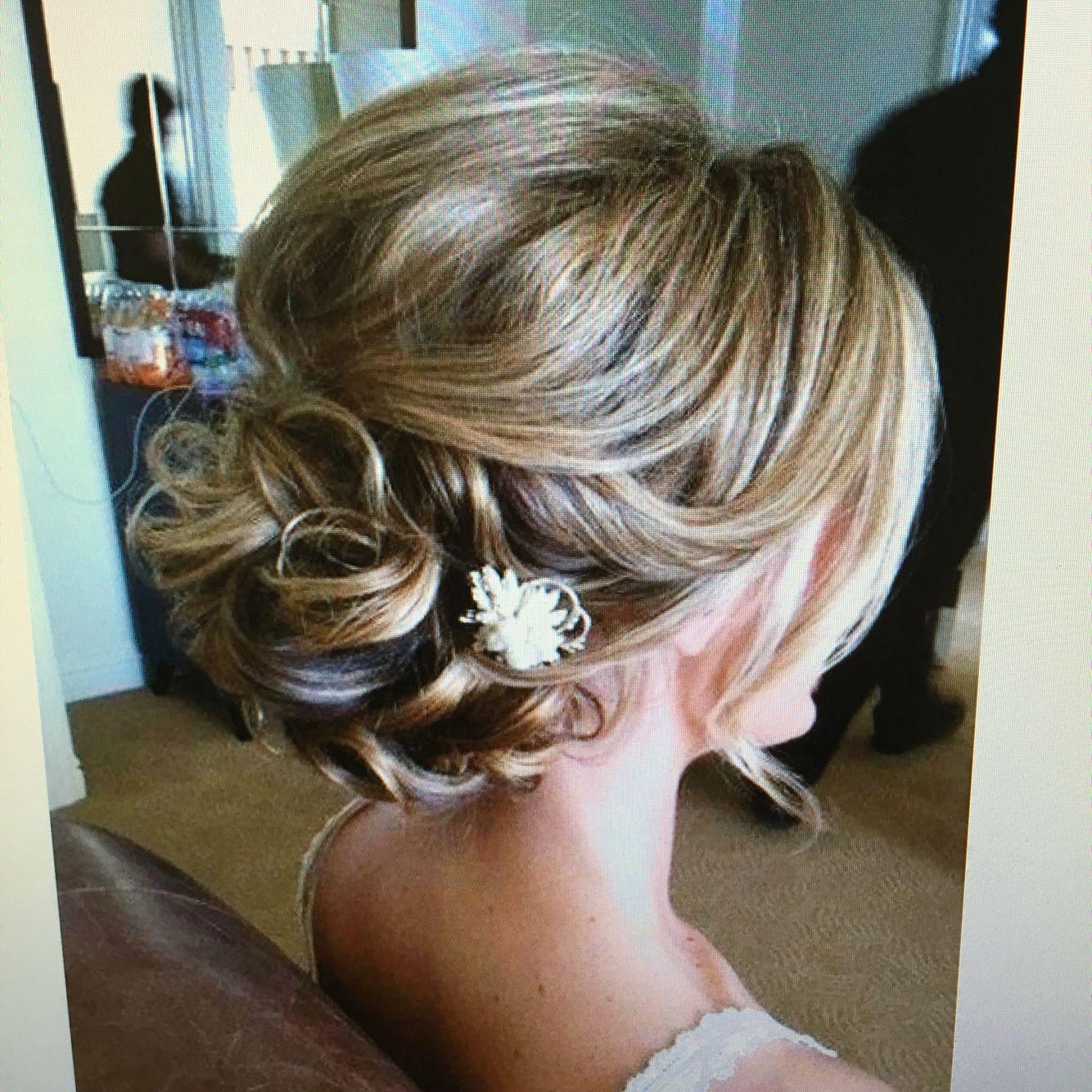 Pin by jo trood on wedding pinterest bridal hair updo fine thin