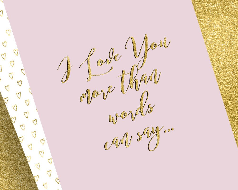 I love you more than words can say by eloisestationary on etsy https explore love you more than more than words and more kristyandbryce Images