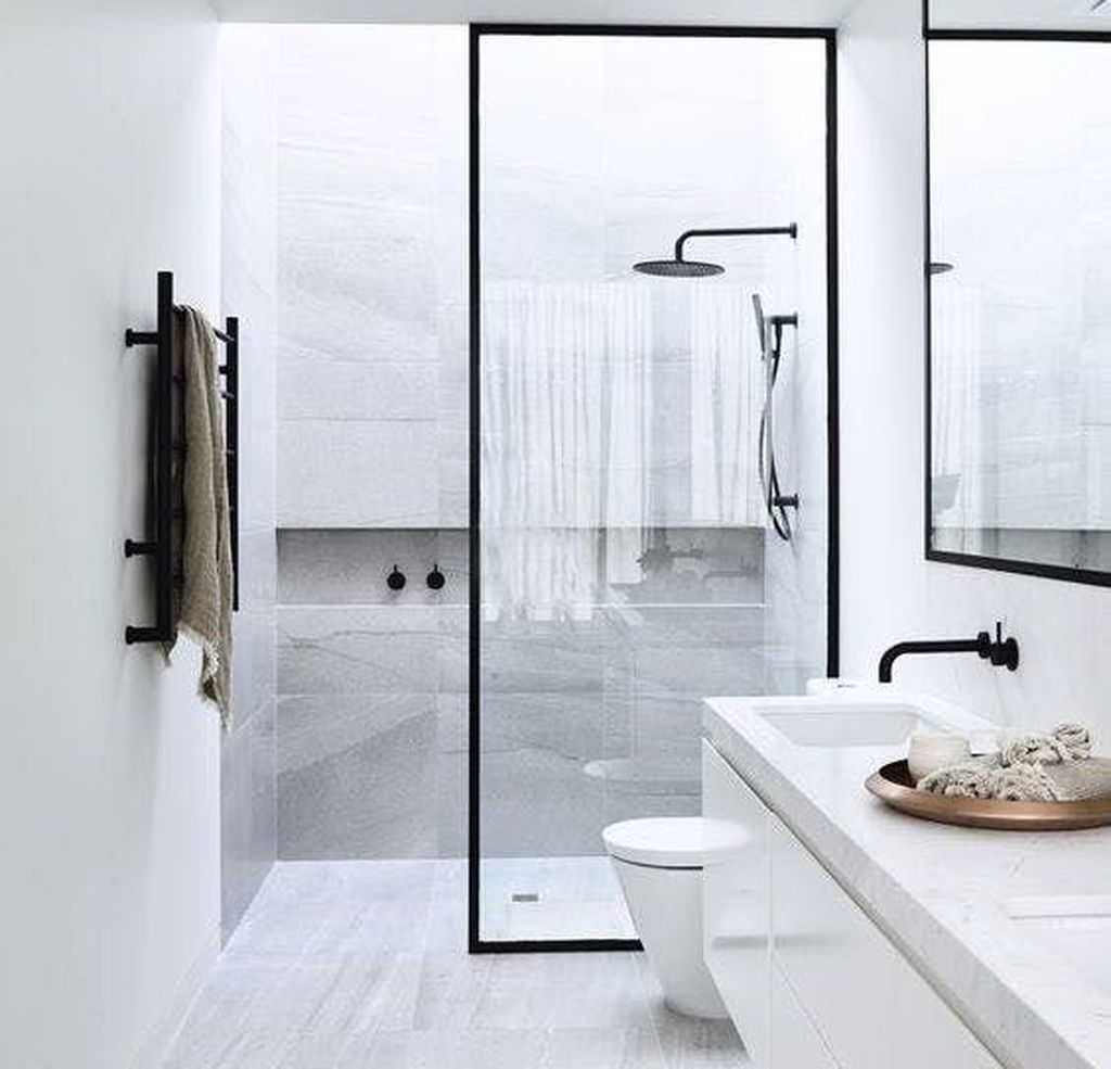 50 Stunning Scandinavian Bathroom Design Ideas Roundecor Minimalist Bathroom Design Bathroom Remodel Designs Bathroom Design Inspiration Minimalist bathroom image inspiration