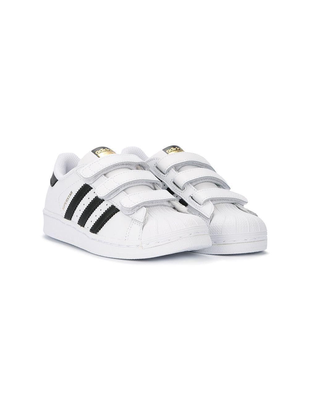 396176721 Adidas Kids Tênis  Superstar  de couro
