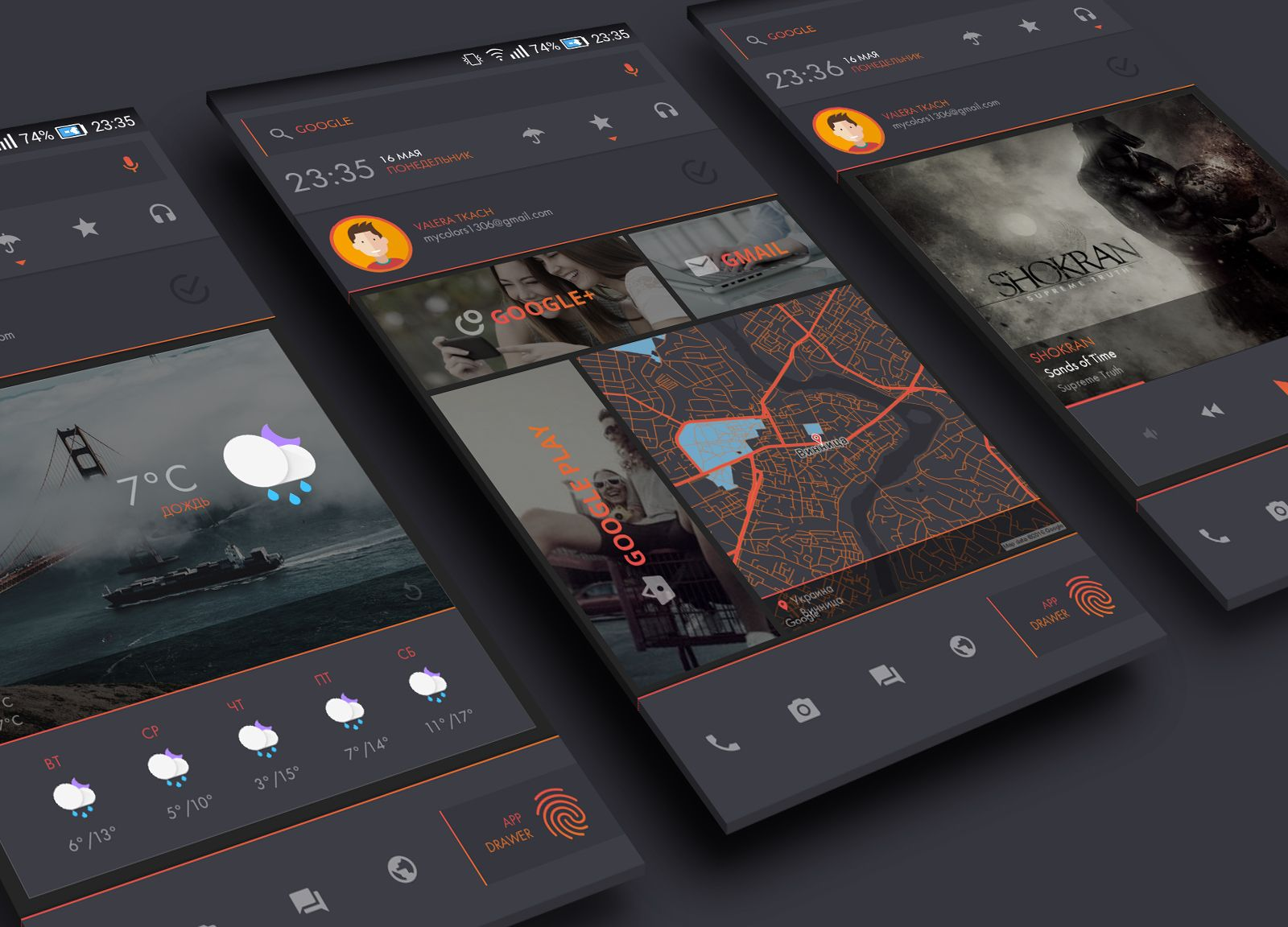DarkDessert Theme for KLWP Android Homescreen