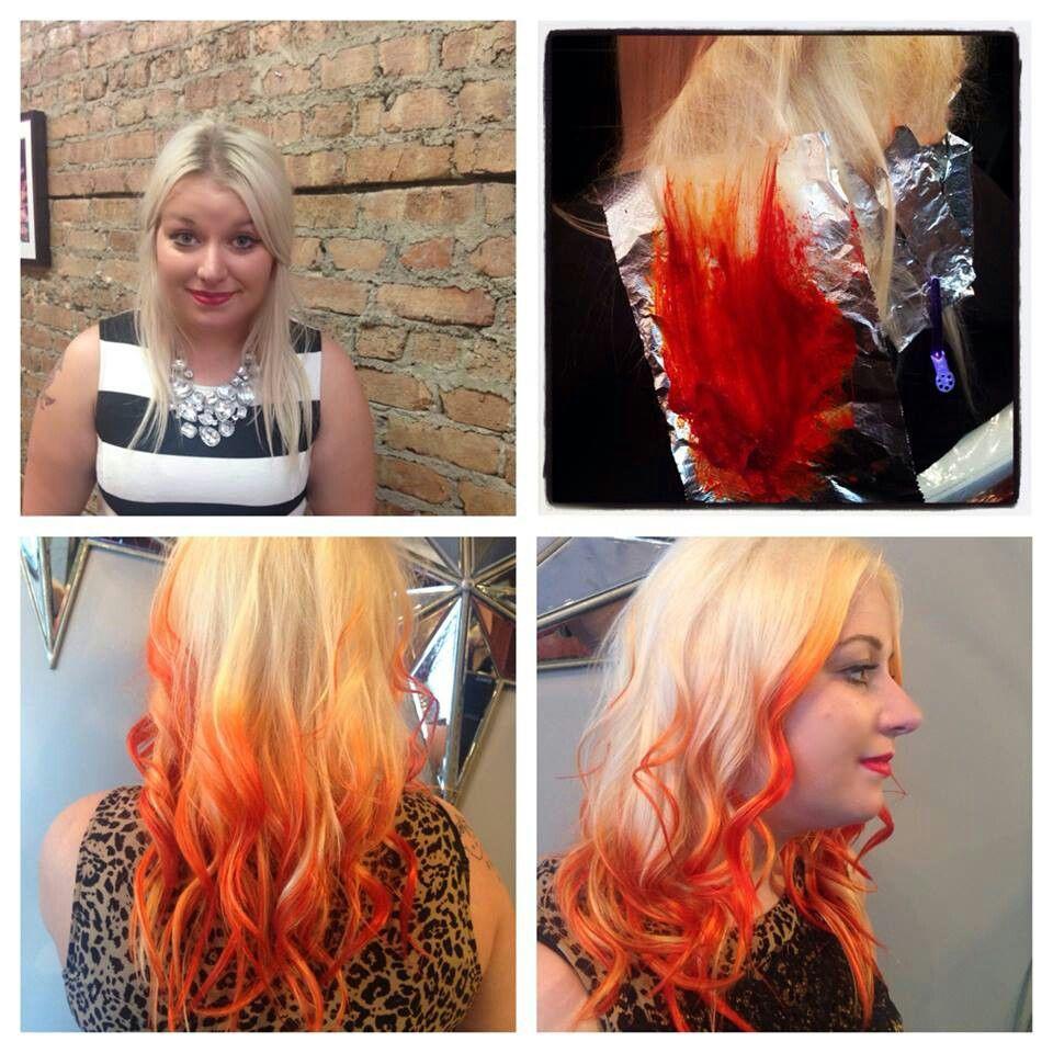 Pravana Vivids Orange Ombre Color Fall Platinum Blonde