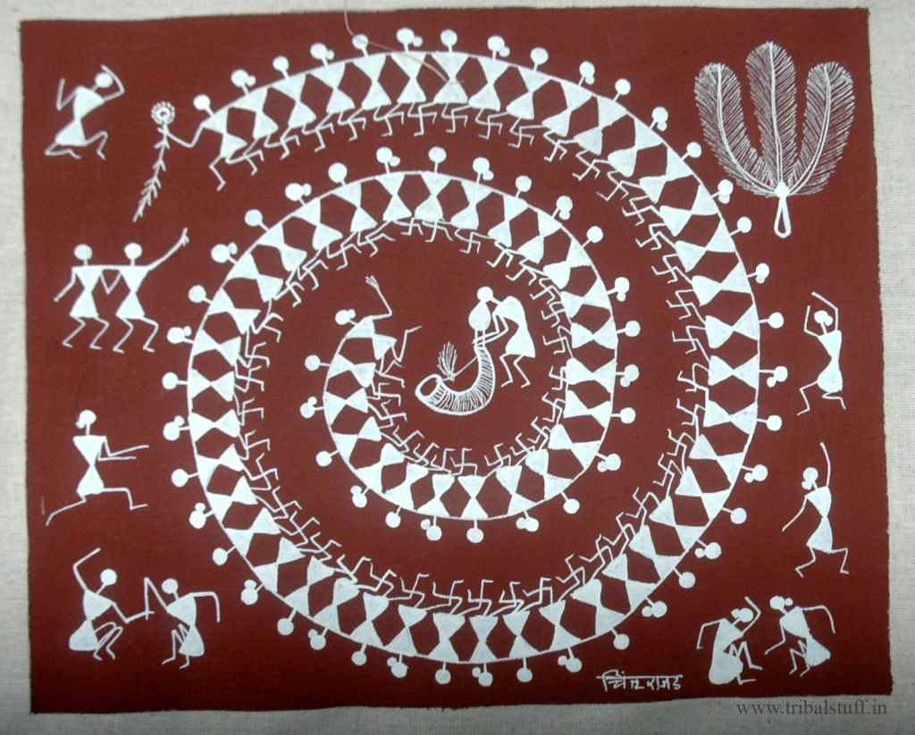 Warli Tribal Art Form (India) Indian folk art, India art