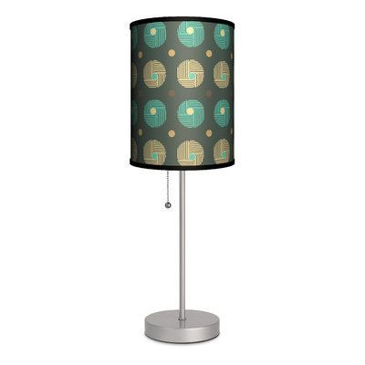 """Lamp-In-A-Box Decor Art Yarn 20"""" H Table Lamp with Drum Shade"""