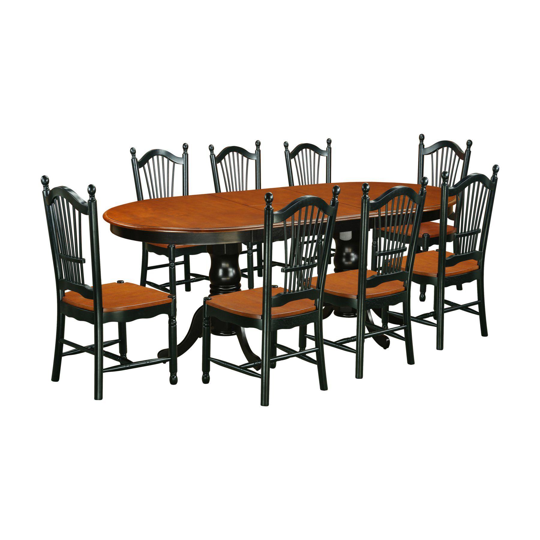 Amazing East West Furniture 9 Piece Plainville Extending Dining Inzonedesignstudio Interior Chair Design Inzonedesignstudiocom