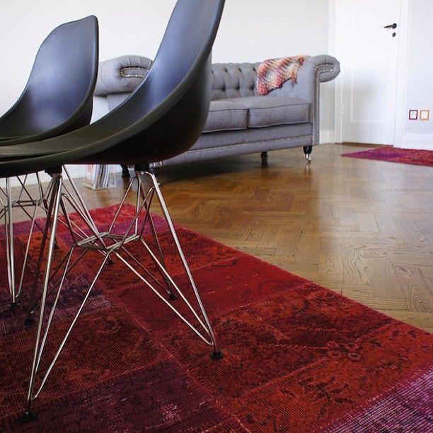 Orientteppich Patchwork in Rot Wohnzimmer Teppich Inspirationen - bilder wohnzimmer rot