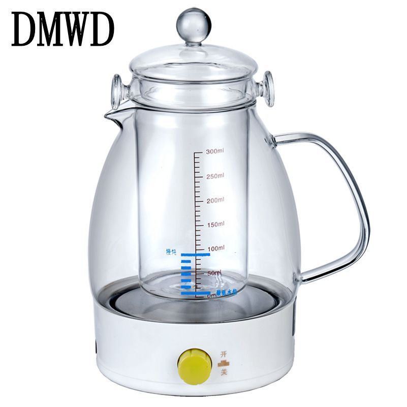 Dmwd Electric Kettle Mini Slow Cooker Bird Nest Stew Pot Hot Water Heater Multifunction Auto Power Off Boiler Glass Liner Teapot Electric Food Steamer Electric Kettle Hot Water Heater