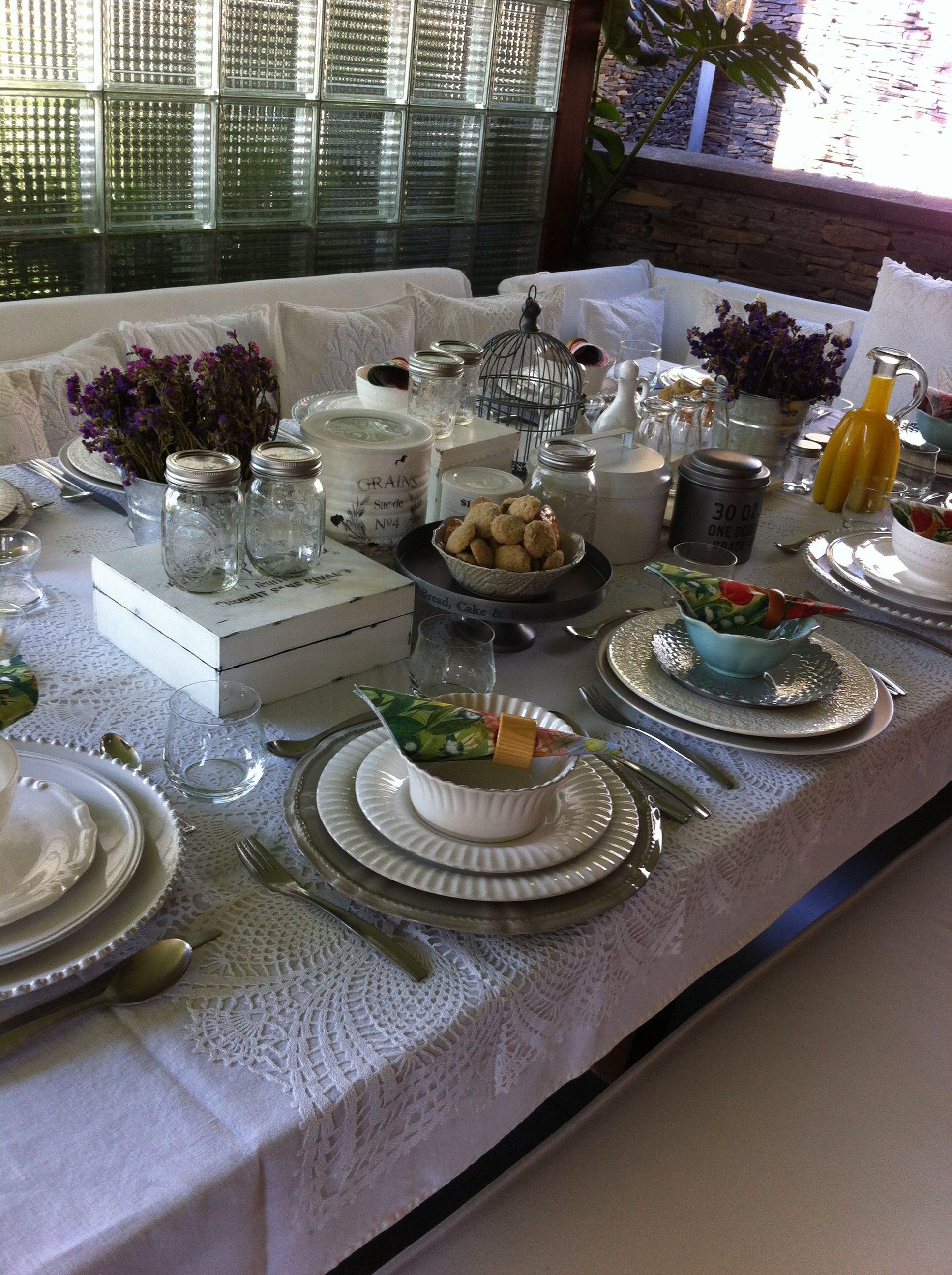 Mesa para un desayuno decoraci n de mesas pinterest for Mesa desayuno