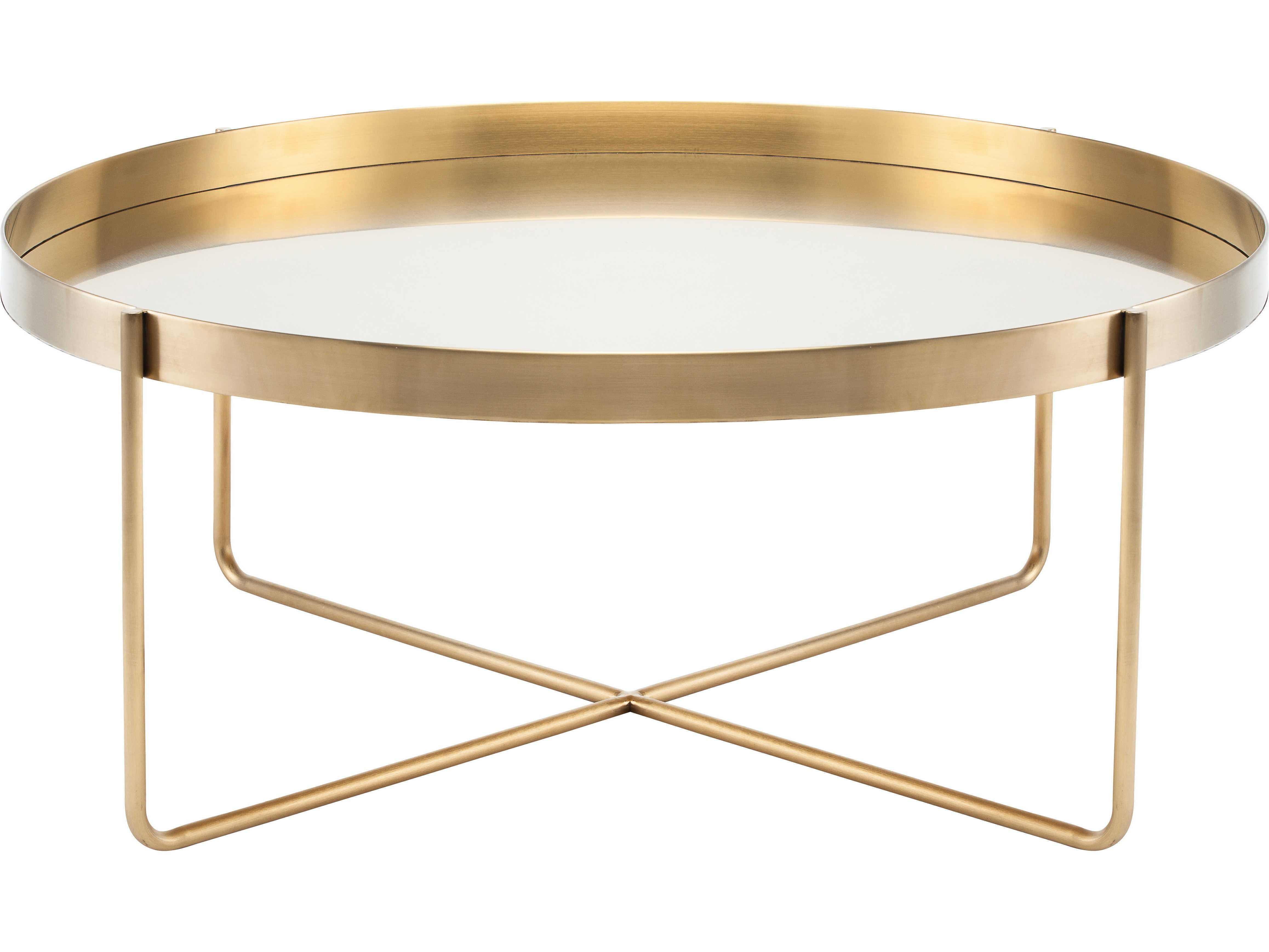 potential new coffee table Nuevo Gaultier Brushed Gold 40 Wide