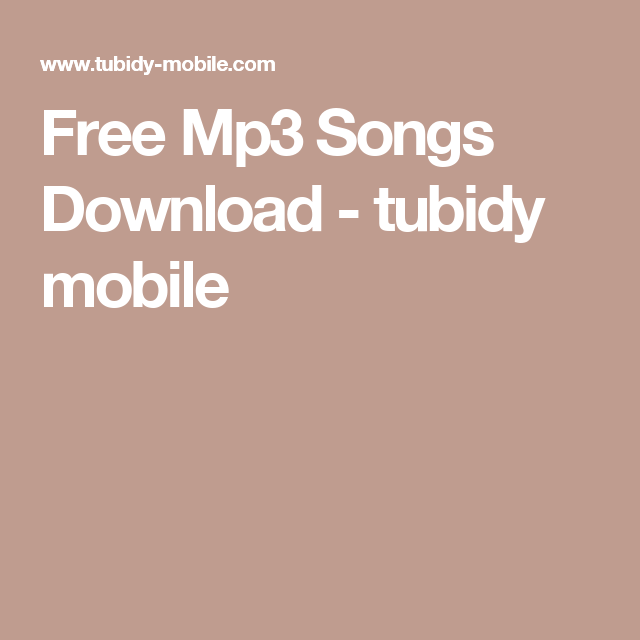tubidy mobile music mp3 download